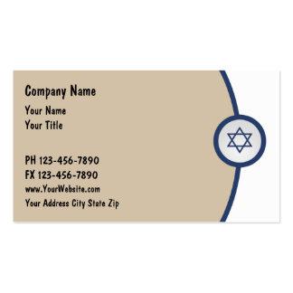 Tarjetas de visita judías