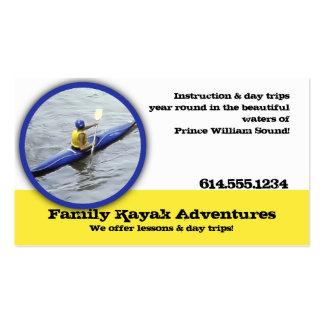 Tarjetas de visita Kayaking recreativas
