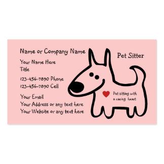 Tarjetas de visita lindas del canguro del mascota