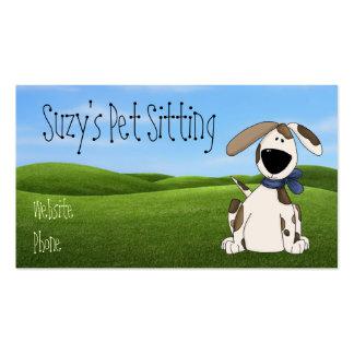 Tarjetas de visita lindas del mascota del perro