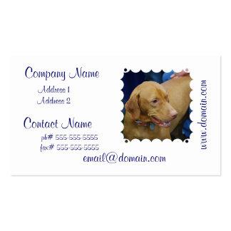 Tarjetas de visita lindas del perro de Vizsla