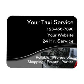 Tarjetas de visita magnéticas del taxi imanes de vinilo