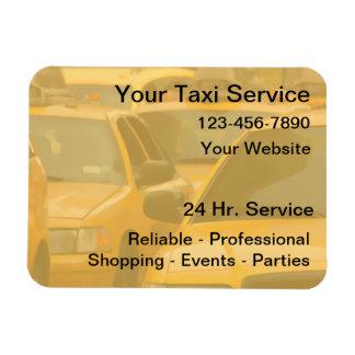 Tarjetas de visita magnéticas del taxi iman