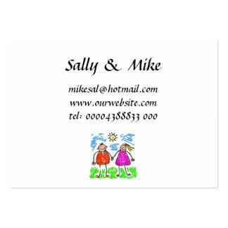 Tarjetas de visita manchadas de los padres