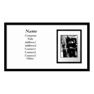Tarjetas de visita - marco negro (estera blanca)