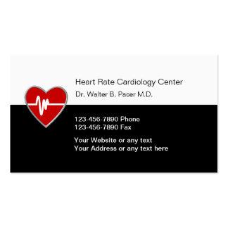 Tarjetas de visita médicas de la cardiología