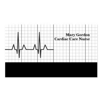 Tarjetas de visita médicas de la enfermera cardiac