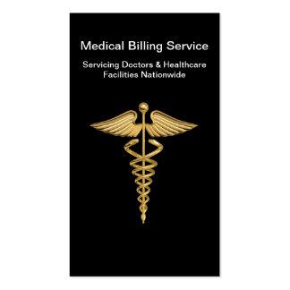 Tarjetas de visita médicas de la facturación