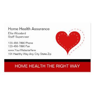 Tarjetas de visita médicas de las tarjetas de