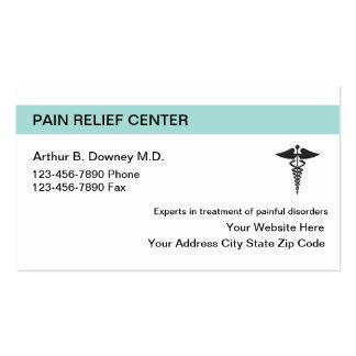 Tarjetas de visita médicas del alivio del dolor