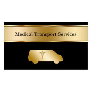 Tarjetas de visita médicas del transporte