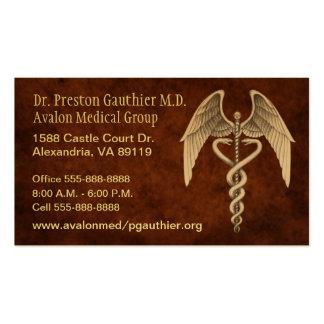 Tarjetas de visita médicas del vintage del símbolo