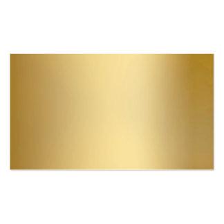 Tarjetas de visita metálicas de la mirada del oro