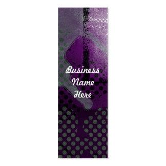 Tarjetas de visita metálicas púrpuras de la señal