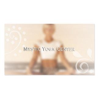Tarjetas de visita místicas de la yoga alt