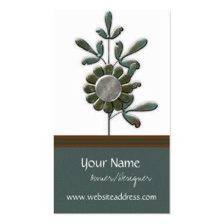 Tarjetas de visita modernas del diseño floral 3 de