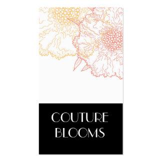 Tarjetas de visita modernas del florista