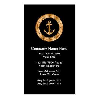 Tarjetas de visita náuticas con clase