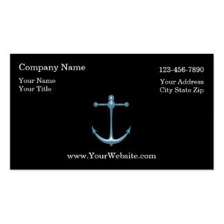 Tarjetas de visita náuticas simples