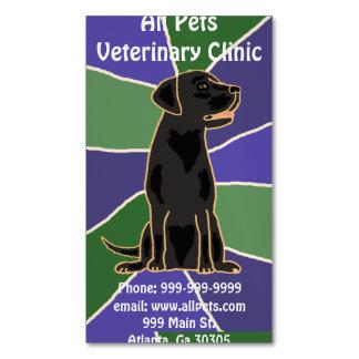 Tarjetas de visita negras artísticas del perro de tarjetas de visita magnéticas (paquete de 25)