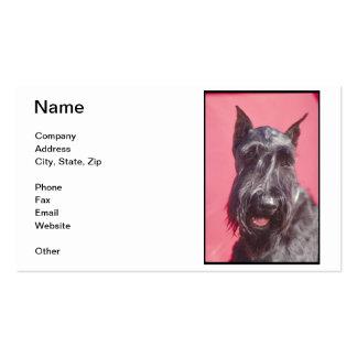 Tarjetas de visita negras de Terrier del escocés