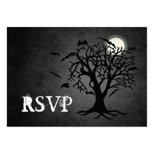 Tarjetas de visita negras extravagantemente de RSV