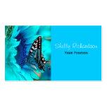 Tarjetas de visita negras y azules de la mariposa