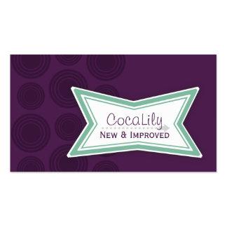 Tarjetas de visita nuevas y mejoradas de CocaLily