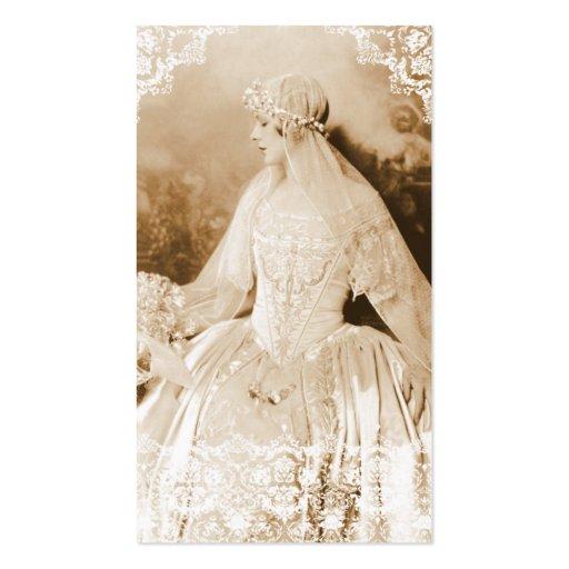 Tarjetas de visita nupciales antiguas del boda