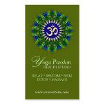 Tarjetas de visita orgánicas verdes de la edad de