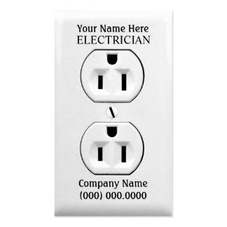 Tarjetas de visita para los electricistas