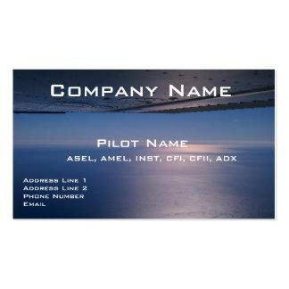 Tarjetas de visita para los pilotos y los aviadore