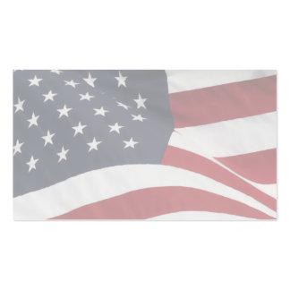 Tarjetas de visita patrióticas en blanco
