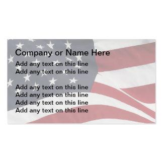Tarjetas de visita patrióticas simples