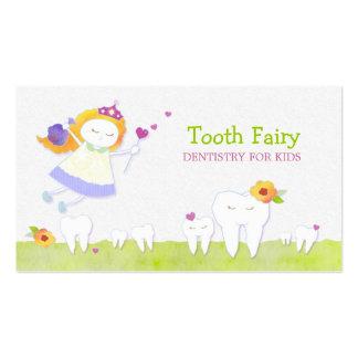 Tarjetas de visita pediátricas de los dentistas de
