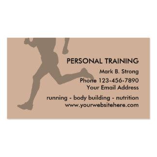 Tarjetas de visita personales del entrenamiento