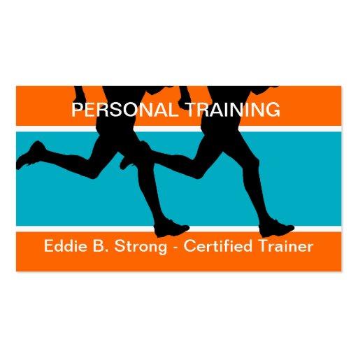 Tarjetas de visita personales del entrenamiento de