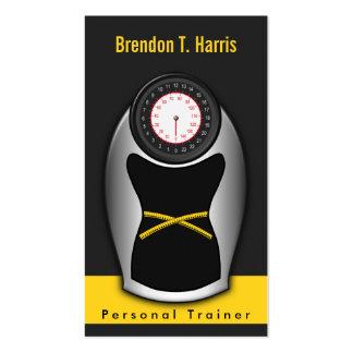 Tarjetas de visita personales del instructor -