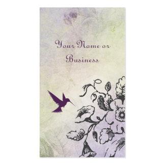 Tarjetas de visita personales del negocio floral