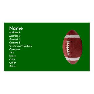 Tarjetas de visita personalizadas del fútbol