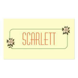 Tarjetas de visita personalizadas flor de la magno