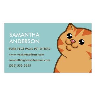 Tarjetas de visita personalizadas gato anaranjado