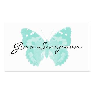 Tarjetas de visita personalizadas mariposa de la a