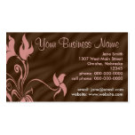 Tarjetas de visita personalizadas, rosa femenino/B