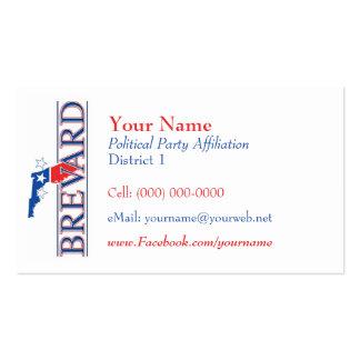 Tarjetas de visita políticas - Brevard Co. la Flor