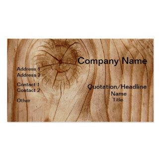 Tarjetas de visita profesionales de madera natural