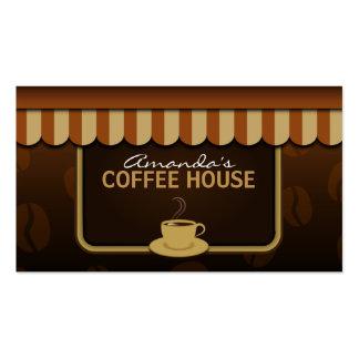 Tarjetas de visita profesionales del café de Brown