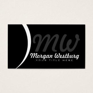 Tarjetas de visita profesionales del monograma de