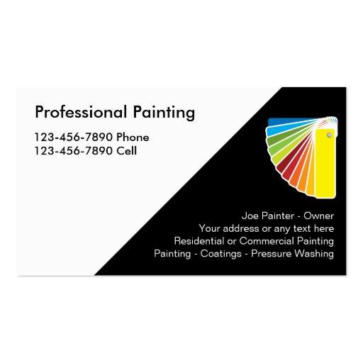 Tarjetas de visita profesionales del pintor