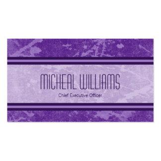 Tarjetas de visita Purple Modern CEO Company